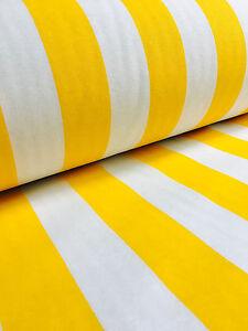 Amarillo Blanco a Rayas Tela Sofia Rayas Cortina Tapicería Material 140cm Ancho