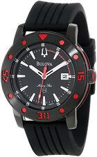 Bulova 98B164 Men's Marine Star Rubber Strap Black Dial 200M Dive Watch