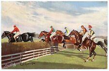 CHEVAUX HIPPISME HORSES.COURSE JOCKEY .RAPHAEL TUCK OILETTE.