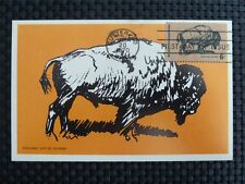 USA MK 1970 BISON WISENT MAXIMUMKARTE CARTE MAXIMUM CARD MC CM c1043