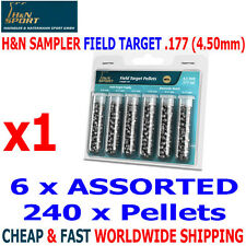 H&N SAMPLER PACK FIELD TARGET .177 4.50/1/2mm Airgun Pellets 240PCS BARACUDA FTT