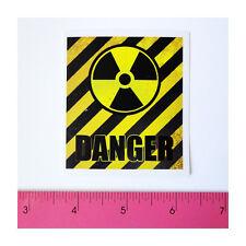 Skateboard Luggage Guitar Vinyl Decal Sticker-Yellow Harzard Nuclear Danger Zone