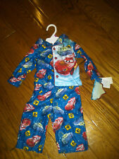 NWT BOYS DISNEY PIXAR CARS 2-PC FLANNEL PAJAMAS 12 MOS