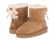NEW UGG Toddler Dixi Flora Perf Little Boots Chestnut Size 10
