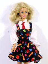 DRESSED BARBIE DOLL IN TEACHER DRESS BLONDE