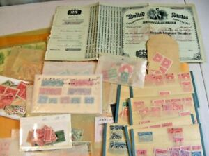 US, Amazing accumulation of Revenue Stamps & others