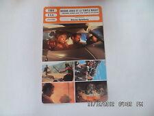 CARTE FICHE CINEMA 1984 INDIANA JONES ET LE TEMPLE MAUDIT Harrison Ford