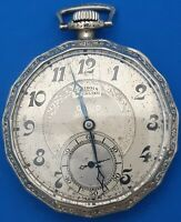 Illinois Sterling Pocket Watch 17 Jewels