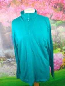 VINTAGE ST MICHAEL MANS SIZE 44-46 IN CHEST 1980,S FUNNELL NECK TOP GREEN