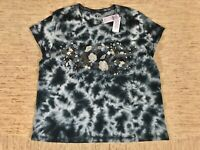 Women's American Eagle Outfitters AEO Embroidered Tie-Dye T-Shirt Tee Large -New