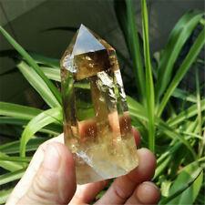 Natural Citrine Quartz Crystal Smoky Transparent Point Healing Home Decor 1PCS