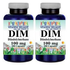 DIM (Diindolylmethane) 100mg 2X200 Capsules By Vitamins Because - Antioxidant