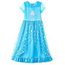 Disney's Frozen Elsa Girls Fantasy Nightgown Pajamas Size 8 Original Price $36.