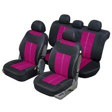 Housses de Siège 1/3 2/3 Noir et Rose pour Peugeot 306 - QD437