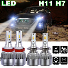 H11 H7 LED Flip Chip Headlight for CAPRICE  TRAVERSE ESCAPE FUSION ACADIA XF MK