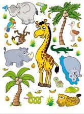 Deko-Tattoos im Kinder-Stil mit Dschungel-Thema