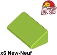 Lego 6x slope brick inclined roof 1x2 green citroën/lime 85984 NEW
