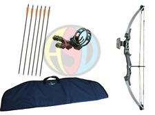 ASD Silver & Black Lynx Compound Archery Bow 55Lbs Package W/ All You Need
