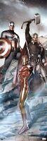 AVENGERS ~ THOR CAPTAIN AMERICA IRON MAN ~ 12x36 ART POSTER ~ Marvel Comic Book