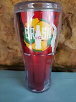 Royal Caribbean Coca Cola 16oz Insulated Travel Tumbler Mug 2014 Brazil/ Brasil