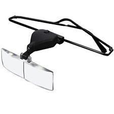 Headband Headset LED Head Lamp Light Jeweler Magnifier Magnifying Glass Loupe