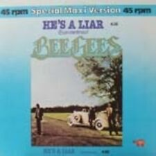 "Bee Gees He's a Liar 2 mixes - German 12"""