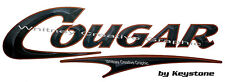 """ COUGAR""  RV  Black Version Graphic Lettering Decal 49.5"" X 16"" Made fresh!"