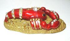 Vintage Nautical Enamel Lobster Figurine Paperweight Beautiful Design Nr
