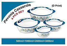 Pinnacle Parisa 4Pc Round Heat Insulated Food Storage HotPot Casserole Set,BLUE
