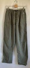 Polo Ralph Lauren Mens Grid Pattern Gray Sleepwear Pants Loungewear Size Small