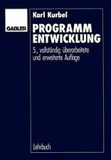 Programmentwicklung.by Kurbel  New 9783409319256 Fast Free Shipping.#