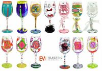 Lolita Wine Cocktail Glasses & Champagne Flutes For Occassions Hand Decorated