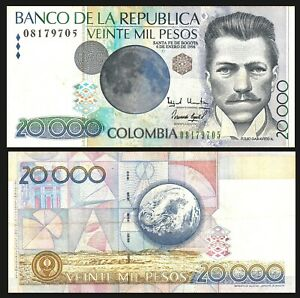 Colombia 20000 Pesos 1998 Pick 448.c  Banknote