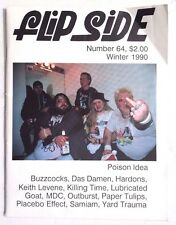 VTG WINTER 1990 FLIPSIDE Magazine BUZZCOCKS Das Damen HARDONS Lubricated Goat