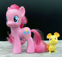 "My Little Pony MLP G4 3"" Brushable Pinkie Pie w/ Mouse Friend Wave 1 2010"