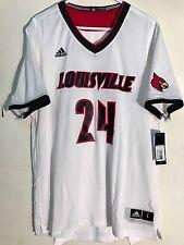 a3ac6890321 Adidas NCAA Jersey Louisville Cardinals  24 White sz L