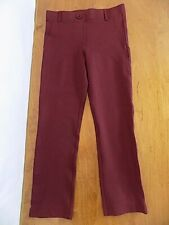 Betabrand Crop Capri Dress Yoga Pants Size XS Burgundy Skinny leg Pull-on