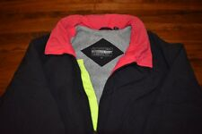 Members Only Mens Ski Jacket Color Block Size Large Neon RETRO VINTAGE