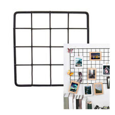 Grid Photo Wall Decorative Iron Rack Clip Iron Multifunctional Photo Display 1pc