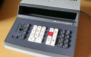 RARE Burroughs C3327 vintage retro 1970s calculator 14 x nixie style VFD tubes