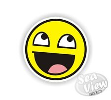 Euro Face Yellow Happy Car Van Sticker Stickers Decal Funny Sticker