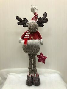 80cm  Moose Freestanding Christmas Decoration with extendable legs