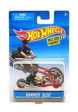 Hot Wheels Moto Noir Hammer Sled Avec Figurine - Mattel - Motorcycle - Vehicule