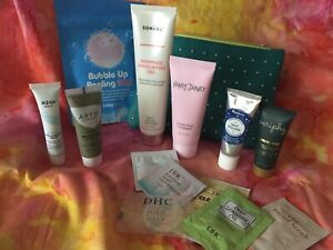 HUGE LOT Cosmetics Skin Care ALL SEALED plus IPSY Studded Glam Bag ALL NEW