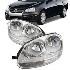 For 2005-2010 Vw Volkswagen Jetta Performance Pair Headlights Chrome Halogen (Fits: Volkswagen)