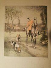 """Pierre Pinsard  . .Chasse a Courre ."""" le salut au chien """""""