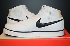 MENS NIKE TRAINERS SIZE 8.5 UK WHITE BRAND NEW HI TOP NOW ONLY NAME ZOOM BB £140