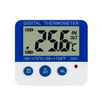LCD In/Outdoor Digital Thermometer Hygrometer Alarm Temperature Humidity Display