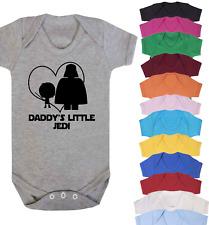 Daddy's Little Jedi Baby Vest Babygrow Bodysuit Novelty Gifts Star Wars Inspired
