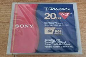 Sony Travan 20GB Tape preformatted mini data cartridge  Brand New Sealed